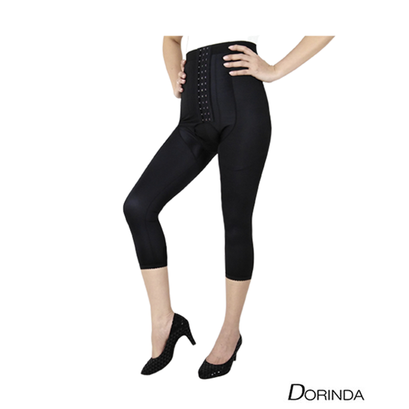 DORINDA กางเกงกระชับสัดส่วน หลัง ดูดไขมันต้นขา ขา 5 ส่วน เป้าเปิด LIP-DD-MW5P-OHK02