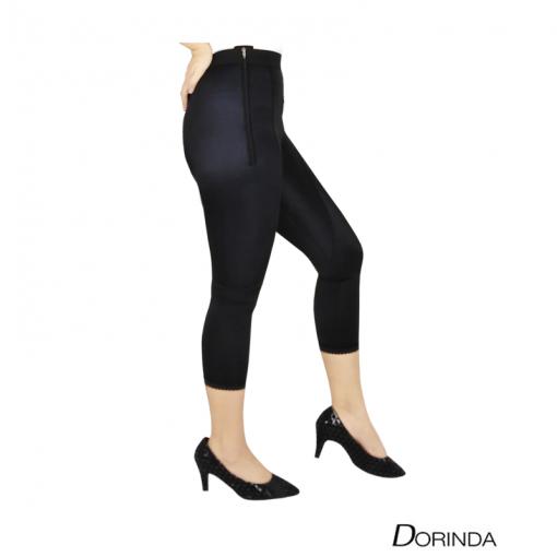 DORINDA กางเกงกระชับสัดส่วนหลังดูดไขมันต้นขา ขา 5 ส่วน เป้าซิป